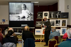 Mike Farrow, giving a presentation on his wonderful photography.