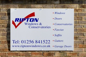 Ripton Windows signage - business details