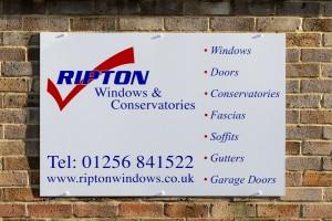 Ripton Windows signage - business details